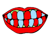 Coloring page Mouth and teeth painted byanonymous