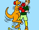 Coloring page Boxer kangaroo painted bynazareno