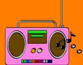 Coloring page Radio cassette 2 painted bypedro