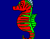 Coloring page Sea horse painted bymathias