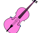 Coloring page Violin painted byraquel