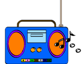 Coloring page Radio cassette 2 painted byraquel