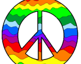 Coloring page Peace symbol painted byHannah