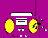 Coloring page Radio cassette 2 painted bymichell12342