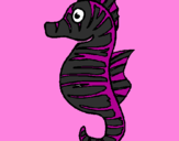Coloring page Sea horse painted byjulie 3.A