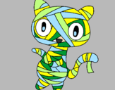 Coloring page Doodle the cat mummy painted bytyrdfhyfdghvb