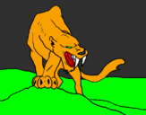Coloring page Tiger with sharp fangs painted bylukas.s.n