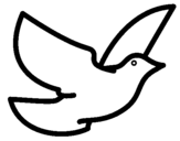 Coloring page Dove of peace painted bynicole