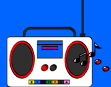 Coloring page Radio cassette 2 painted byCasper