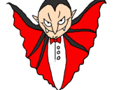 Coloring page Terrifying vampire painted byAngel