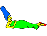 Coloring page Marge painted byHanan Wazzy