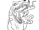 Coloring page Velociraptor II painted bymotociraptor