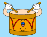 Coloring page Drum painted bymie