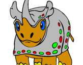 Coloring page Rhinoceros painted bysimon