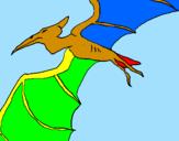 Coloring page Pterodactyl II painted byyoshi