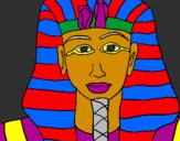 Coloring page Tutankamon painted bykelan