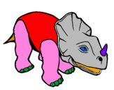 Coloring page Triceratops II painted byreubenb