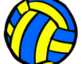 Coloring page Volleyball ball painted by MARILIZA