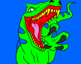 Coloring page Velociraptor II painted byjordy