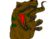 Coloring page Velociraptor II painted bymanan