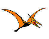 Coloring page Pterodactyl painted bymmuthios