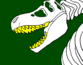 Coloring page Tyrannosaurus Rex skeleton painted byjordy