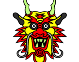 Coloring page Dragon face painted bywill