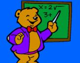 Coloring page Bear teacher painted byXevi-alonso-sanchez