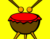 Coloring page Drum III painted bykelan