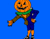 Coloring page Jack-o'-lantern painted byanonymous