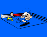 Coloring page Fighting in the ring painted bydaniel