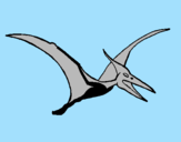 Coloring page Pterodactyl painted bysandy
