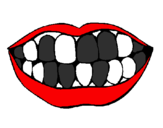 Coloring page Mouth and teeth painted byhaha