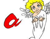Coloring page Angel painted byStar