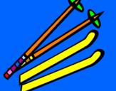 Coloring page Ski Poles painted byfabio  brescia
