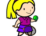 Coloring page Female tennis player painted byGIULIA