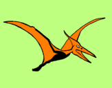 Coloring page Pterodactyl painted byJUAN DAVID