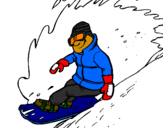 Coloring page Descent on snowboard painted bygrady