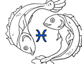Coloring page Pisces painted byp6kth