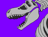 Coloring page Tyrannosaurus Rex skeleton painted byHolly