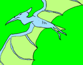 Coloring page Pterodactyl II painted byJUAN DAVID