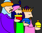Coloring page The Three Wise Men 3 painted byAbigail