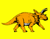 Coloring page Triceratops painted byLOUIS