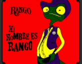 Coloring page Rango painted bymesha