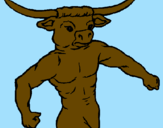 Coloring page Buffalo head painted byAna
