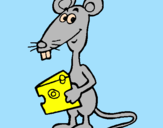 Coloring page Rat 2 painted byAna