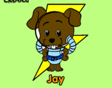 Coloring page Jay painted byJUAN DAVID