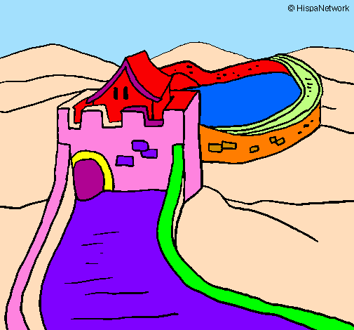 the great wall of china - Great Wall China Coloring Page