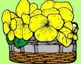 Coloring page Basket of flowers 12 painted bysilas