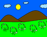 Coloring page Mountain 4  painted byarthur